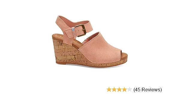 d76eea01049c Toms Shoes Coral Patterned Wedges Color Pink Size 10