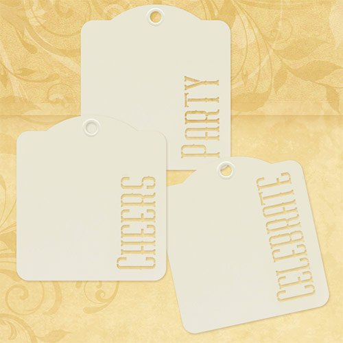 (Graphic 45 Cheers, Party, Celebrate-Ivory Tags,)
