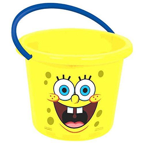 amscan Spongebob Party Jumbo Favour Bucket, Plastic, 9