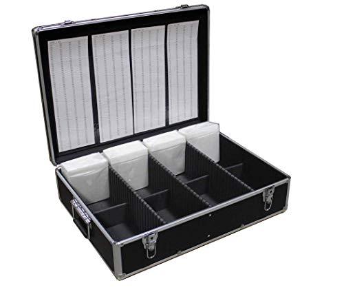 New MegaDisc 1000 CD DVD Black Aluminum Media Storage Case Mess-Free Holder Box with Sleeves no Hanger