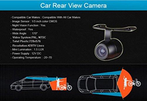 Dacawin 170° 2.4G Wireless Car Rear view Waterproof Reversing Camera (Black) by Dacawin (Image #7)
