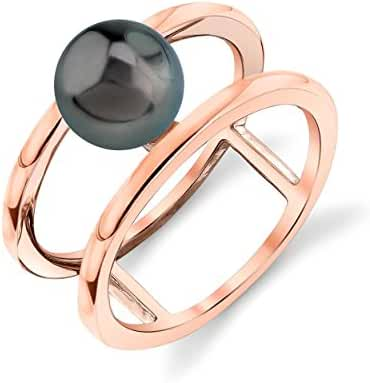 8mm Tahitian South Sea Cultured Pearl Ora Ring