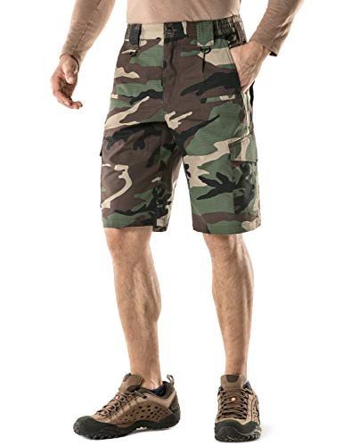 - CQR Men's Tactical Lightweight Utiliy EDC Cargo Work Uniform Shorts, Tactical Shorts(tsp203) - Woodland Olive, 32