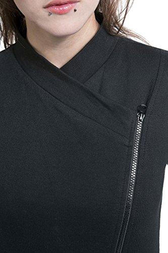Spiral Veste de motard avec fermeture Éclair pour femme Motif Metal Streetwear Noir