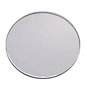 source one shatter proof round centerpiece acrylic mirrors 12 inch office products. Black Bedroom Furniture Sets. Home Design Ideas