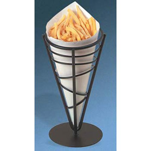 American Metalcraft FFB59 Wrought Iron 1-Cone Conical Basket, 9-Inch
