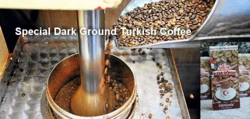 ilyas Gonen Dibek Ground Turkish Coffee/Plain Dibek and 19 Different Flavored (100g / 3,5oz) (Special Dark Ground Turkish Coffee) -  Dibek Kuru Kahve