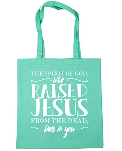 the Mint God Tote lives Bag spirit Shopping from who litres raised 42cm Beach of dead you Jesus Gym The 10 in x38cm HippoWarehouse qStB88