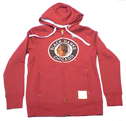 - NHL Licensed Chicago Blackhawks Youth Full Zip Hooded Jacket Coat (Small)
