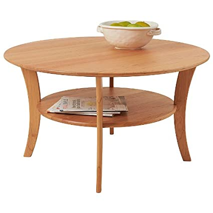 Bon Manchester Wood Round Cherry Coffee Table   Natural Cherry