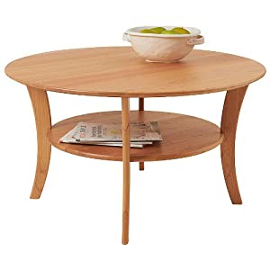 Amazon Com Manchester Wood Round Cherry Coffee Table