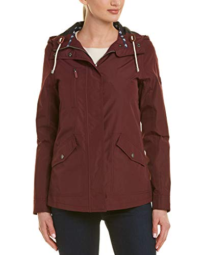 Barbour Womens Headland Jacket, 18, Red - Hood Barbour