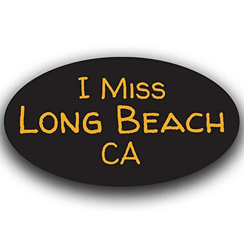 More Shiz I Miss Long Beach California Decal Sticker Travel Car Truck Van Bumper Window Laptop Cup Wall One 5.5 Inch Decal MKS0485