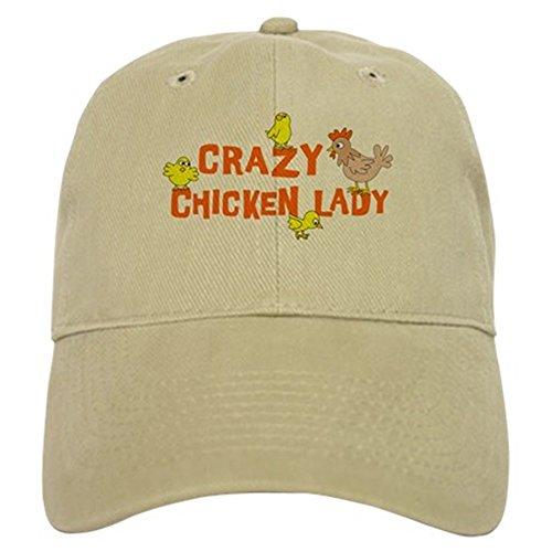 CafePress - Crazy Chicken Lady Cap - Baseball Cap with Adjustable Closure, Unique Printed Baseball (Chicken Hats)