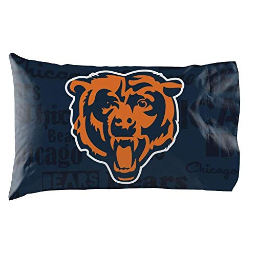 The Northwest Company NFL Chicago Bears Anthem Pillowcase Set Anthem Pillowcase Set, Blue, One - Bears Chicago Pillow