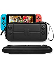 Rhodesy Carrying Case Compatible for Nintendo Switch Ultra Slim Rhodesy Portable Protective Hard Shell Travel Case Pouch with 8 Game Cartridges for Nintendo Switch Console & Accessories Black