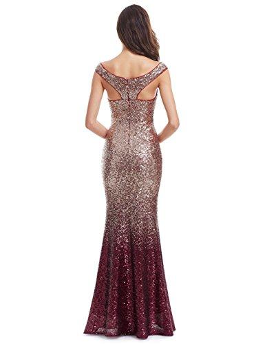 Halsausschnitt Elegant V Ever Pretty Rot Pailletten Partykleid Cocktailkleid Lang Abendkleid 08999 SqwO0wFB