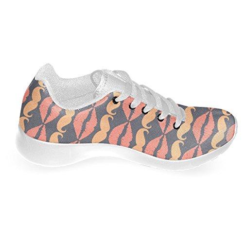 Artsadd Orange Charcoal Hipster Bigote Y Labios Custom Brand New Running Zapatos Para Hombres