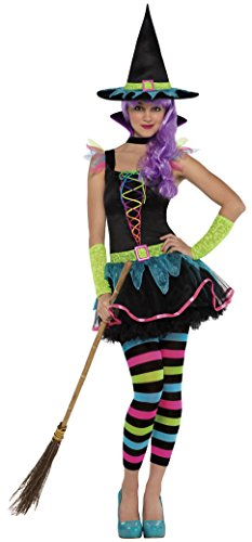 Witch Costume Uk Girls (Christy's Teens Neon Witch Costume)