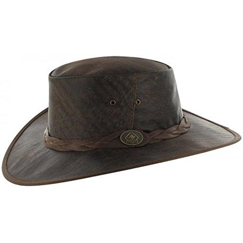 5dcb0e9e0ccc5 Scippis Sombrero de Piel Wild Roo by sombrero australianosombrero canguro  (XL 60-61 - marrón)  Amazon.es  Ropa y accesorios