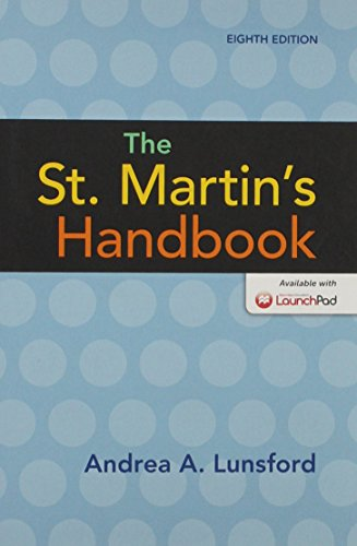 St. Martin's Handbook 8e, Paper Version & LaunchPad for The St. Martin's Handbook 8e (Twelve Month Access) from Bedford/St. Martin's