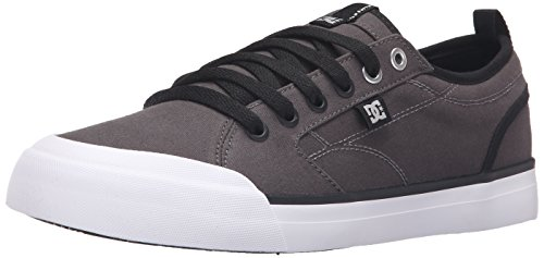 DC Men's Evan Smith TX Skate Shoe, Grey/Black, 10 M US