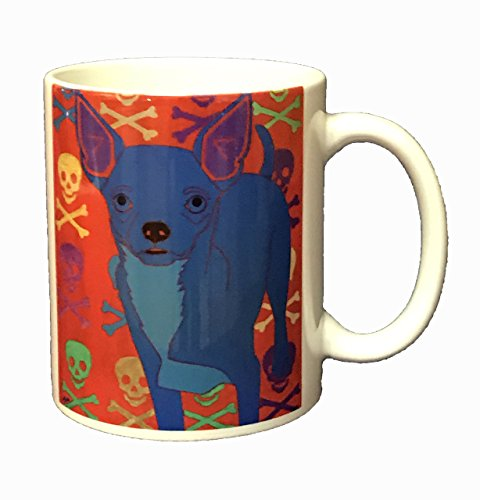 Chihuahua Mug, Dog Coffee Cup 11 oz Ceramic Mug by Angela Bond (Angela Cup)