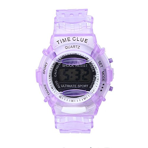 SMTSMT Students Waterproof Digital Wrist Sport Watch - Purple