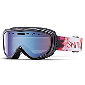 Smith Optics Cadence Women's Cylindrical Series Snocross Snowmobile Goggles Eyewear - Pepper Inkblot/Blue Sensor Mirror / Medium