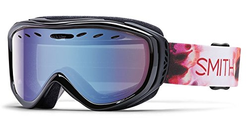 Smith Optics Cadence Women's Cylindrical Series Snocross Snowmobile Goggles Eyewear - Pepper Inkblot/Blue Sensor Mirror / Medium