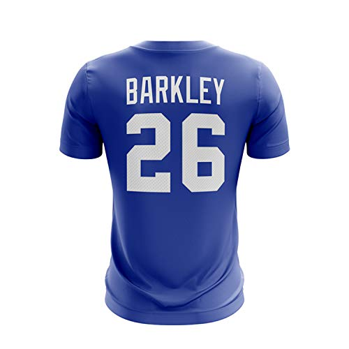 Majestic Athletic Men's Saquon Barkley New York Giants NFL Pro Line Name & Number T-Shirt – Royal M