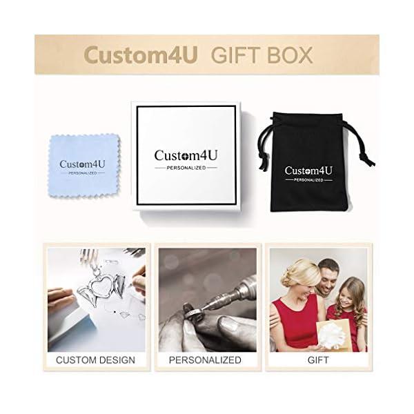 Custom4U Braccialetto di allerta medica, braccialetti Sos per uomo donna, braccialetti personalizzati per donna uomo… 7