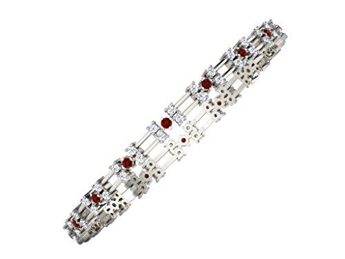 Libertini bracelet argent 925 femme serti de Diamant et Rubis
