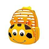 Fligatto Cute School Backpack, Kawaii Cartoon Animals Design Kids School Book Bags Toddler Children Small Backpack Daysack For Girls Boys (Giraffe)