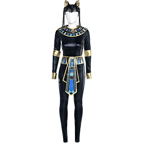 Party City Egyptian Bastet Goddess Halloween Costume for Women, Small, with Accessories
