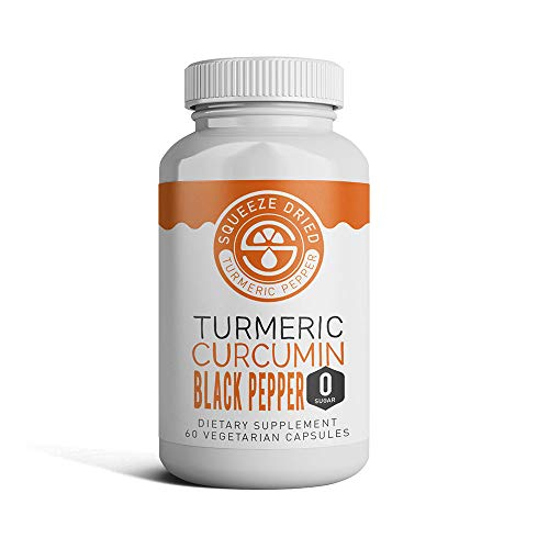 Squeeze Dried Turmeric Curcumin with Peperine Black Pepper & 95% Curcuminoids. Best for Anti-Inflammatory Joint Relief, Pain Relief & Anti Aging Supplement with Quick Absorption - 1 Bottle