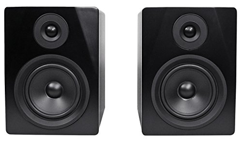 Rockville APM5B 5.25' 2-Way 250W Active/Powered USB Studio Monitor Speakers Pair, Black