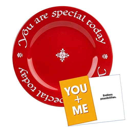 Waechtersbach You Are Special Today Red Plate - Premium Ceramic Dinner - Today Your Plate Special Day Is