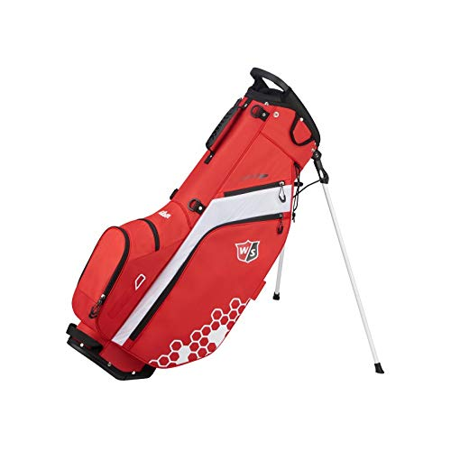 Wilson Staff Feather Carry Golf Bag, Red ()