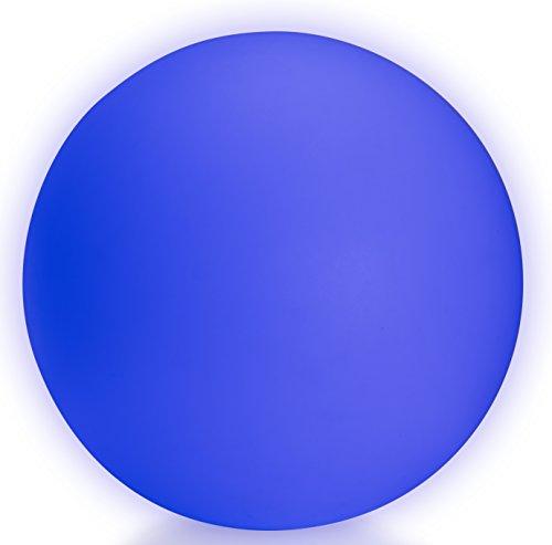 LED Leuchtkugel kabellos mit Akku 50 cm Gartenkugel multicolor RGB mit Farbwechsel und Fernbedienung aufladbar wasserfest Kugelleuchte Leuchtball Kugel