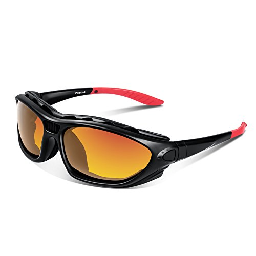 8ba4f4fc967f Galleon - Polarized Sports Sunglasses Goggles Safety For Men Women ...