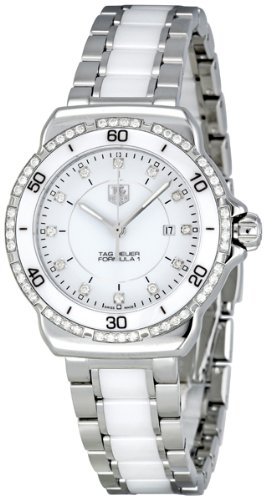 TAG Heuer Women's WAH1313.BA0868 Formula 1 Stainless Steel Bracelet Watch with White Dial and Diamonds (Swiss Link Tag Heuer)
