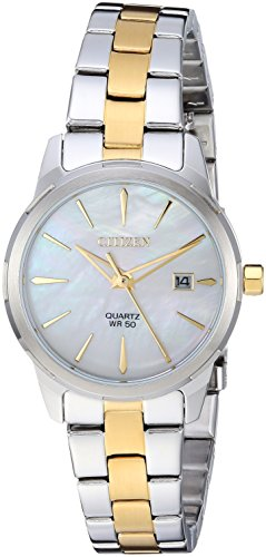 Citizen Women's ' Quartz Stainless Steel Casual Watch, Color:Two Tone (Model: EU6074-51D)