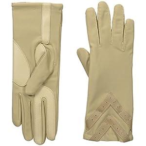 Isotoner Women's Spandex smarTouch Chevron Gloves, Camel, Small/Medium