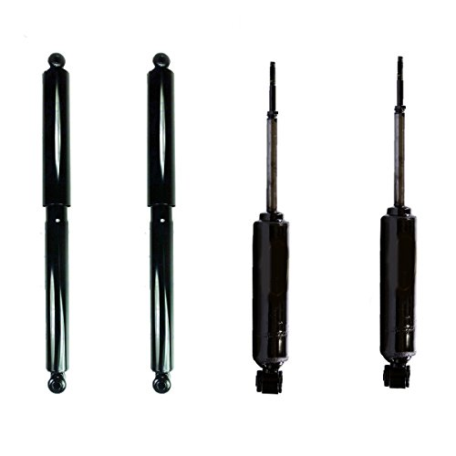 Detroit Axle - Set (4) Front & Rear Shock Absorbers for 1997-2004 Dodge Dakota [1998-2003 Dodge Durango] 4WD ONLY