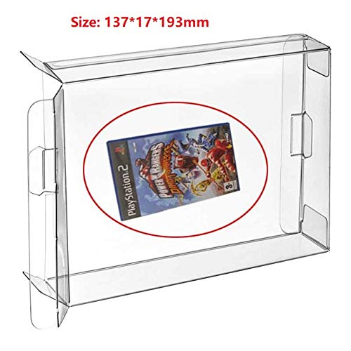 Childhood 10Pcs Clear Protective Box Case Display Sleeve Protector for PS 2 Game Cube Xbox Wii Xbox 360 Games Cartridge Box (Wii Games Lot)