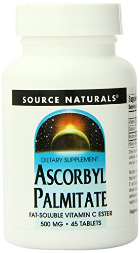 SOURCE NATURALS Ascorbyl Palmitate 500 Mg Tablet, 45 Count