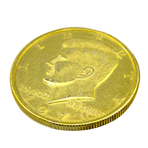 Gracefulvara Golden 1pc 50 Cent Coins Magic Props