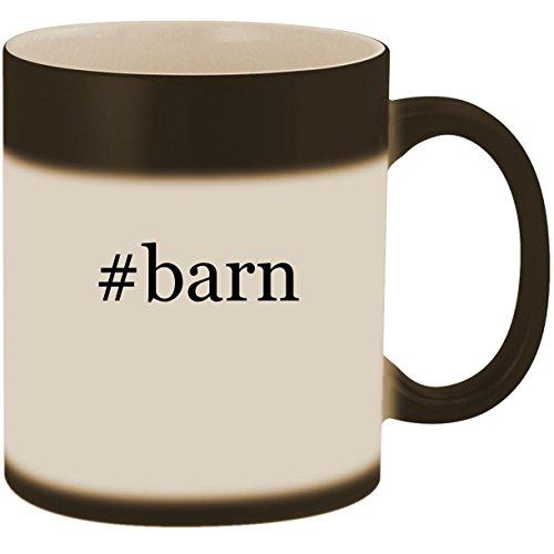 #barn - 11oz Ceramic Color Changing Heat Sensitive Coffee Mug Cup, Matte Black