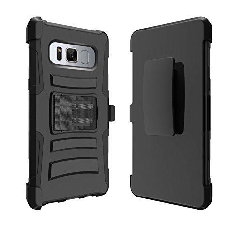 Galaxy Note 8 Kickstand Case, Samsung Galaxy Note 8 Rugged Case [Clip Armor] Protective Note 8 Case [Galaxy Note 8 Heavy-Duty Case] w/ Kickstand + Holster